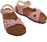 Birkenstock Infant Girls Tuvalu Birko-Flor Narrow Fit Sandals Minnie Flower Pattern Red