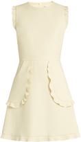 RED Valentino Ruffled sleeveless A-line dress