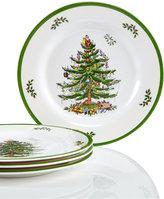 Spode Christmas Tree Set/4 Melamine Salad Plate