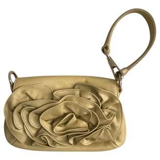 Saint Laurent Yellow Leather Clutch bags