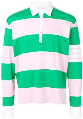 Thom Browne 4-bar Rugby Stripe Oversized Polo