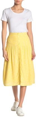 Elodie K Button Front Midi Skirt