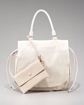 Top-Handle Calf Hair Messenger