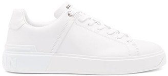 Balmain B-court Leather Trainers - Mens - White