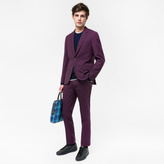 Paul Smith The Soho - Men's Tailored-Fit Damson Wool 'Suit To Travel In'