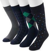 Croft & Barrow Men's 4-pack Solid & Patterned Socks