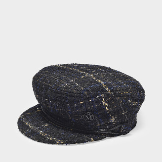 Maison Michel New Abby Hat In Black Tweed