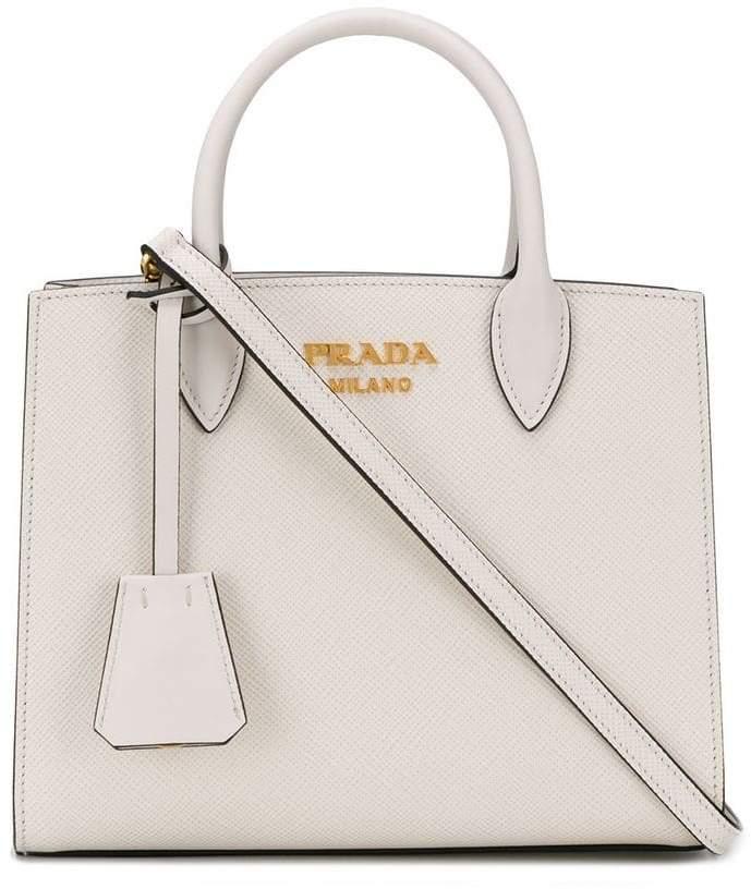 7b0f3423d0df Prada White Saffiano Leather Handbags - ShopStyle