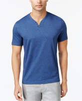 Alfani Men's Split-Neck Heathered Henley, Only at Macy's