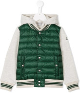 Moncler panelled padded jacket - kids - Cotton/Feather Down/Polyamide - 10 yrs
