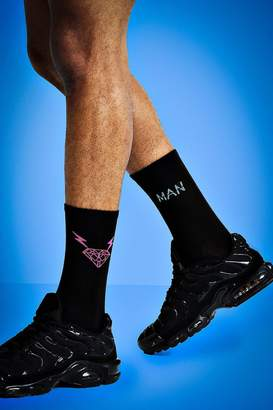 boohoo Mist 2 Pack Icon Tube Socks