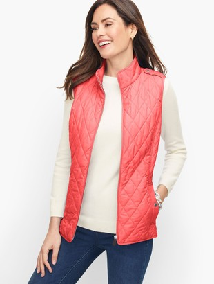 Talbots Diamond Quilted Vest