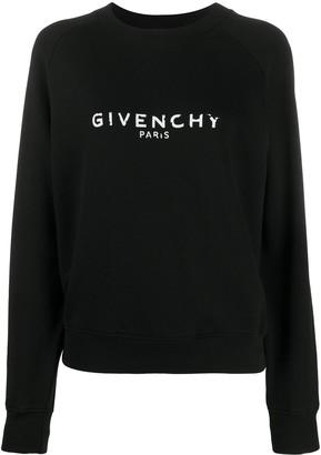 Givenchy Antique-Effect Logo Print Sweatshirt