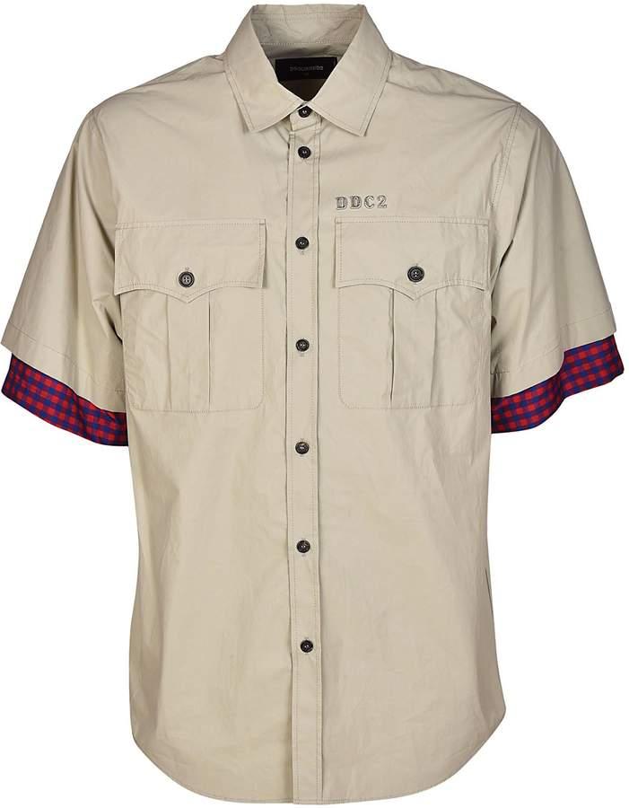 DSQUARED2 Tartan Cuffs Shirt