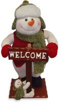 Bed Bath & Beyond National Tree Plush Collection Snowman with Welcome Sign Display