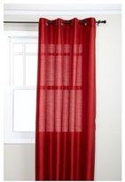 "Style Master Stylemaster Tribeca 56 x 120"" Faux Silk Grommet Panel, Crimson"