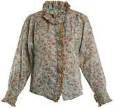 Etoile Isabel Marant Mauryn floral-print ruffle-trimmed cotton shirt