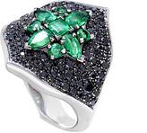 Stephen Webster 18K 2.30 Ct. Tw. Black Diamond & Emerald Ring