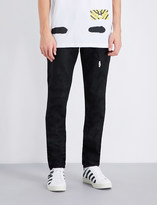 Off-White Spray-effect slim-fit skinny jeans