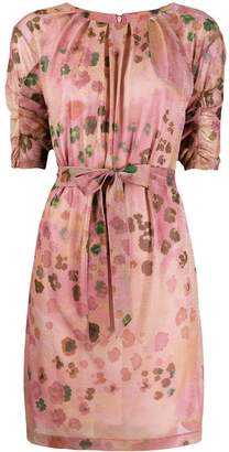Blumarine short floral print dress