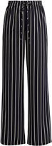 Raey Striped wide-leg satin trousers