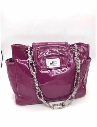 Chanel Grand shopping Purple Patent leather Handbags