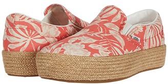 Vans Slip-On Platform ESP SF ((Floral Linen) Deep Sea Coral) Shoes