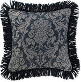 """Waterford CLOSEOUT! Sinclair Indigo 18"""" Square Deocrative Pillow"""