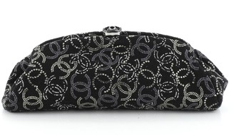 Chanel Paris-Shanghai Pudong Clutch Strass Embellished Tweed