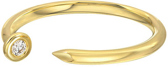 Zoe Lev Jewelry 14k Diamond Nail Cuff Ring