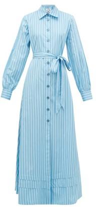 Evi Grintela Lily Striped Cotton Shirt Dress - Blue Stripe