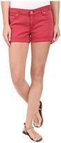 Hudson Hampton Cuffed Shorts in Red Stone