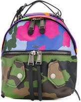 Moschino clashing camouflage Biker backpack