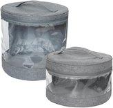 JJ Cole Clear Storage Bin Set- Slate Heather - Slate Heather