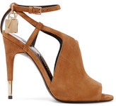 Tom Ford Cutout Suede Sandals - Tan