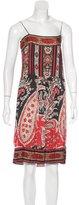 Etoile Isabel Marant Mixed Print Sleeveless Dress
