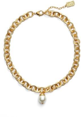 Karine Sultan Short Imitation Pearl Collar Necklace