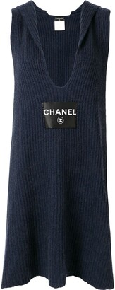 Chanel Pre Owned knitted scarf dress