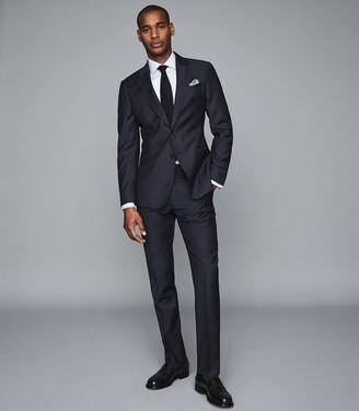 Reiss Detroller Slim - Two Fold Double Cuff Slim Fit Shirt in Soft Blue