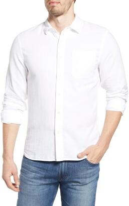 Kato The Ripper Organic Cotton Gauze Button-Up Shirt