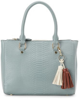 Imoshion Dusty Blue Snake Embossed Satchel
