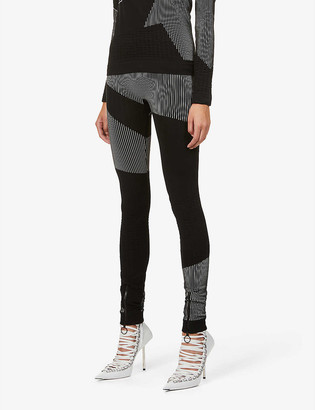 Off-White Athleisure Seamless branded high-rise stretch-knit leggings