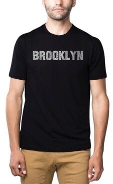 LA Pop Art Mens Premium Blend Word Art T-Shirt - Brooklyn Neighborhoods