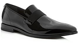 HUGO BOSS Men's Highline Patent Leather Smoking Slippers