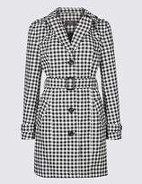 M&S Collection Gingham Trench Coat with StormwearTM