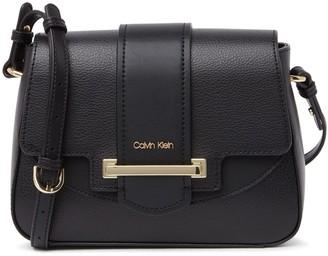 Calvin Klein Amara Hermine Leather Flap Crossbody Bag