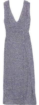 Victoria Beckham Pleated Boucle-tweed Midi Dress