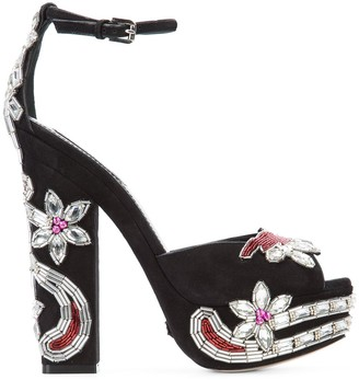 DSQUARED2 crystal-embellished sandals