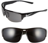 Nike Men's 'Golf X2' 74Mm Sunglasses - Black/ Metallic Silver