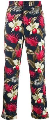 Engineered Garments Floral Print Trousers